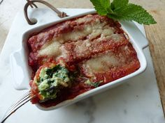 Cannelloni au brocciu et aux épinards (Corse) - Philandcocuisine Cannelloni Ricotta, Oui, French Toast, Cooking, Breakfast, Cooker Recipes, Pasta Types, Cucina, Breakfast Cafe