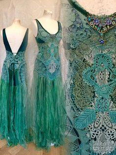 A personal favorite from my Etsy shop https://www.etsy.com/dk-en/listing/508164779/boho-wedding-dress-crochet-statement