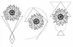 Tattoo sunflower geometric 59 New Ideas Wolf Tattoos, Hand Tattoos, Black Tattoos, Body Art Tattoos, Small Tattoos, Sleeve Tattoos, Tatoos, Circle Tattoos, Fish Tattoos