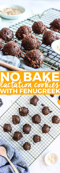No-Bake Lactation Cookies with Fenugreek (Vegan Gluten-Free)   easy lactation cookie recipe, healthy lactation cookies, vegan lactation cookies, gluten-free lactation cookies    The Butter Half via @thebutterhalf