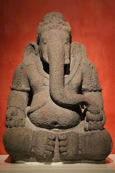 God Ganesha, Remover of Obstacles..  Indonesia, Central Java  9th/10th cnetury / Andesite..