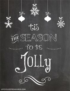 3 Free Christmas Printables - Enjoy these 3 FREE Christmas Chalkboard printables that you can either print or transfer over onto a chalkboard.