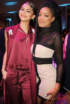 Zendaya hangs with pal Keke Palmer at the 2016 Essence Black Women in Hollywood awards on Thursday in Beverly Hills.