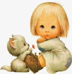 Little Girl and Her Kitty by Ruth Morehead.