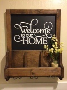 Diy Key Holder Mail Welcome Sign Woodworking Project