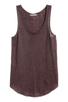 13€ jun16 Camiseta de tirantes de lino | H&M