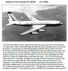 Eastern Air Lines [Boeing] 720 , (c/n illustrated article by Ed Coates] Vintage Travel Posters, Vintage Ads, Vintage Airline, Boeing 720, B720, Commercial Aircraft, Civil Aviation, Old Signs, Air Travel