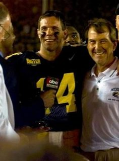 Brian Griese and Lloyd Carr...'98 Rose Bowl