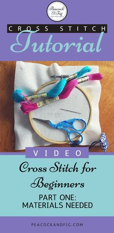 Cross stitch tutorial for beginners part one