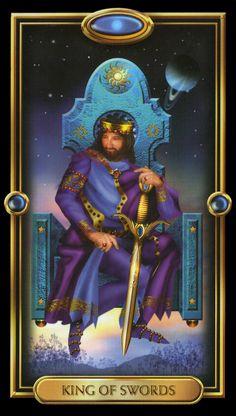 Le roi d'épées - Tarot doré par Ciro Marchetti