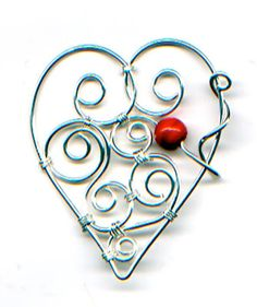 Good, easy way to make a basic heart shape.  The picture is one of her example variations - which is much prettier (IMO) than her project example.