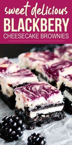 ★★★★★ Rating: 5 - Delicious Blackberry Cheesecake Brownies. These Blackberry Cheesecake Brownies will have everyone begging for seconds! #cakerecipes #easycakerecipes #deliciouscakes #cakes #cheesecakes #brownierecipes #brownies #holidayrecipes #easyrecipes