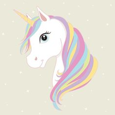 White unicorn vector head with mane and horn. Unicorn on starry background. poster ) ) White unicorn vector head with mane and horn. Unicorn on starry background. Unicorn Painting, Unicorn Drawing, Unicorn Art, Magical Unicorn, Rainbow Unicorn, Unicorn Head Cake, Beautiful Unicorn, Baby Unicorn, Unicornios Wallpaper