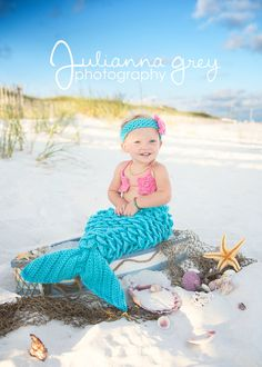 READY to SHIP Crochet Mermaid Costume Photo Prop by JMagaClothing, $45.00