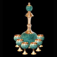 iran, isfahan inlaid turquoise (Firoozeh Kobe) handicraft products