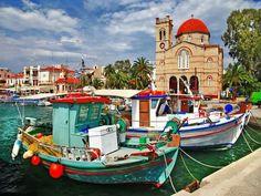 Aegina island, Saronicos bay, Greece