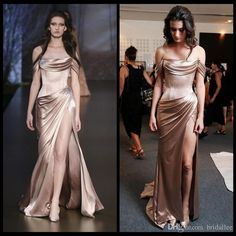 Show your best to all people even in the evening and then get elegant design bright satin champagne mermaid evening dresses off shoulder sexy corset pick-ups split front long prom gowns formal dress in bridallee and choose wholesale trendy evening dresses,turkish evening dresses and turquoise evening dresses on DHgate.com.