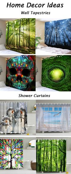 fall decor ideas for the home:Wall Tapestries and Shower Curtains
