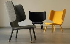 Tembo Lounge Chair with a minimalistic and modern look. Designed by Noergaard & Kechayas for New Works.