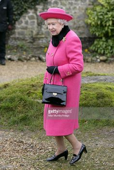 Queen Elizabeth II leaves the church of St Mary in Flitcham near the Sandringham…