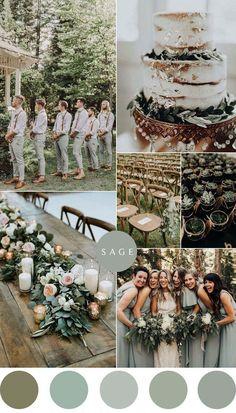 Wedding Color Combinations, Wedding Color Schemes, Color Combos, Colour Schemes, Color Palette For Wedding, Sage Color Palette, Color Palate, Perfect Wedding, Dream Wedding
