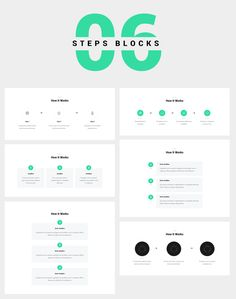 6 Steps Blocks or Wireframes. Usually, the steps are used to explain how a particular service or product works. Design Web, Web Design Black, Fashion Web Design, Online Web Design, Web Design Quotes, Website Design Layout, Web Design Tutorials, Web Design Trends, Web Design Company