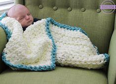 Easy Beginner Baby Blanket - Sewrella