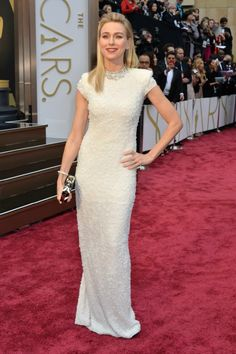 Naomi Watts with Calvin Klein Collection dress in Oscars 2014