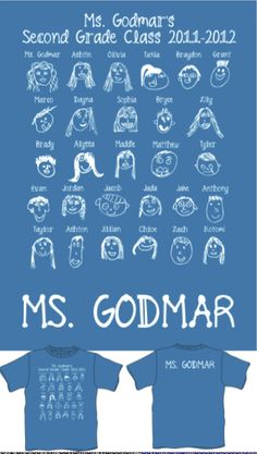Class T-Shirts: Have students draw their faces in pencil in a small box template using fonts of your choice, The teacher will trace over in a thin black sharpie, take to your local graphic design company to create a piece of memorabilia for you and your students! My students don't know that they get these on the last day of school! I asked for $10 (includes cost of tshirt and graphics) donations from their parents for a special surprise from all of us! :)