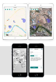 Ager Maps - #App by NETBRAIN #Aplicación iOS para móviles y tabletas orientada a mapas, dirigida a técnicos agrícolas y forestales para posicionar puntos, líneas o polígonos en el campo directamente en el mapa, y añadir información e imágenes asociadas  a esos puntos y polígonos. #appdesign #desarrolloapps