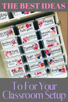 The 67 best classroom setup ideas to get your class ready for back to school including how to label your teacher toolbox, get organized, and tips and inspiration to create an amazing space for you and your students. Preschool Classroom Decor, Classroom Setup, Classroom Design, Kindergarten Classroom, Classroom Organization, Learning Methods, Back To School, School Stuff, High School