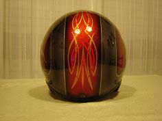 OPEN HELMET KANDY FLAKES AND PINSTRIPING by FENO by FENO Artworks., via Flickr