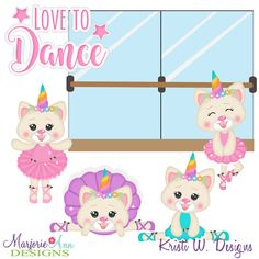 Kittycorn I Love To Dance SVG-MTC-PNG plus JPG Cut Out Sheet(s) Our sets also include clipart in these formats: PNG & JPG