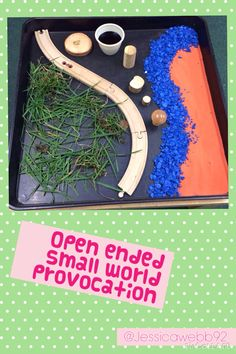 Open ended small world provocation. EYFS