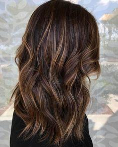 Brunette Highlights, Caramel Highlights, Brown Hair With Highlights, Brunette Hair, Color Highlights, Caramel Blonde, Caramel Hair, Hair Color For Black Hair, Dark Hair