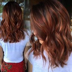 hair inspiration Pin for Later: 45 Balayage Hair Color Ideas to Inspire Your Next Salon Appointment Hair Color Auburn, Red Hair Color, Brown Hair Colors, Curly Hair Colour Ideas, Medium Auburn Hair, Medium Red Hair, Brown Auburn Hair, Magenta Hair Colors, Auburn Balayage