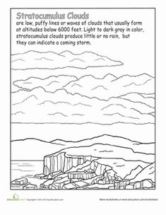 Printables Cloud Worksheets types of clouds the ojays worksheets and second grade earth space science nature stratocumulus cloud