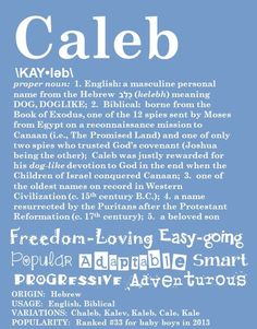 Items similar to CALEB Personalized Name Print / Typography Print / Detailed Name Definitions / Numerology-calculated Destiny Traits / Educational on Etsy Caleb Name Meaning, Names With Meaning, Book Of Exodus, Boy Names, Family Names, Character Names, Kids Corner, Typography Prints, Baby Love