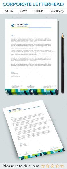 7+1 Corporate Letterhead Templates Pack Letterhead template - corporate letterhead template