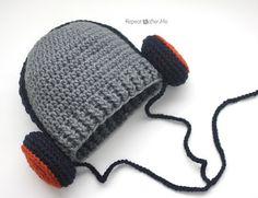 Crochet Headphones Hat