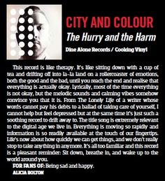 City and Colour Hysteria Review JUNE