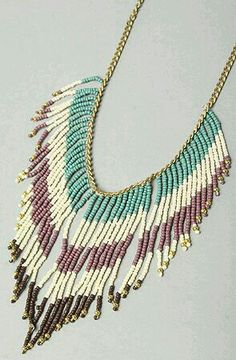 Accessories Boutique The Bead Fringe Necklace Global Concrete Culture Fringe Necklace, Seed Bead Necklace, Diy Necklace, Necklace Designs, Beaded Earrings, Beaded Jewelry, Jewelry Necklaces, Handmade Jewelry, Seed Beads