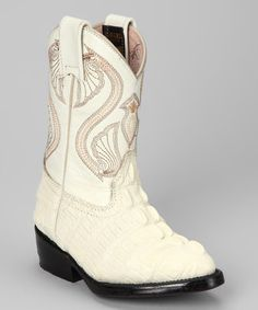 Take a look at this Bone Cocodrilo Boot by Bonanza Boots on #zulily today!