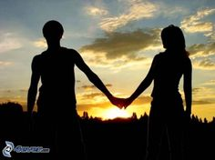 silhouette du couple