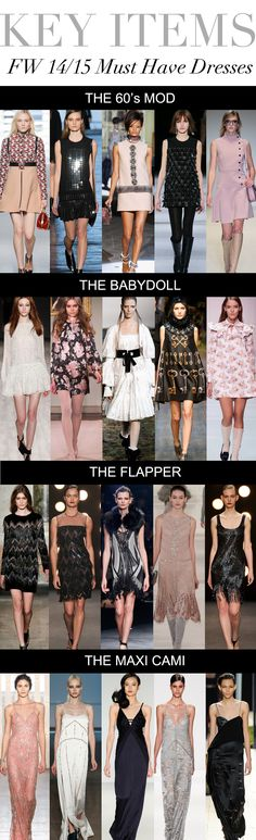 Trend Council:  KEY ITEMS - FW 14/15 Must Have Dresses
