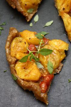 Yellow Cherry Tomato Tarte Tatin with Fresh Herbs