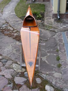 Beautiful wood Struer Wood Canoe, Wooden Kayak, Canoe Boat, Kayak Boats, Paddle Boat, Canoe And Kayak, Wooden Boats, Cool Boats, Small Boats
