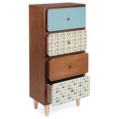 Petit meuble 4 tiroirs H 77 cm ...