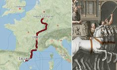 Interactive map of ancient Roman roads and sea routes reveal how long it took - and cost - to travel across the empire. The Roman world map was created by Walter Scheidel, an historian from Stanford University: http://www.dailymail.co.uk/sciencetech/article-2687371/Google-CAESAR-View-Interactive-map-ancient-Roman-roads-reveal-long-took-cost-travel-CHARIOT.html