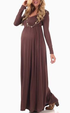 Maxi Dresses - Maternity Maxi Dresses with Sleeves - Maternity Clothing